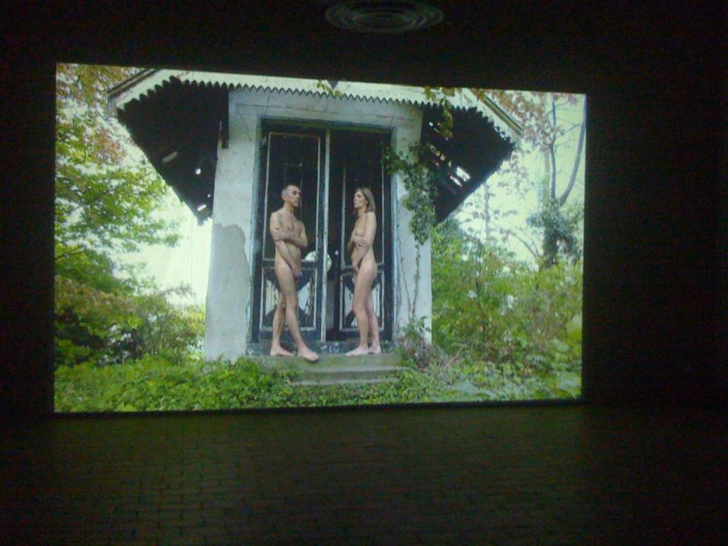 Filming Adam and Eve in the Garden of Eden © loudebuck